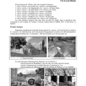 La voie romaine Corseul-Carhaix.