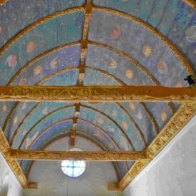 Les sablières sculptées de la chapelle de la Salle, en Lanmérin.